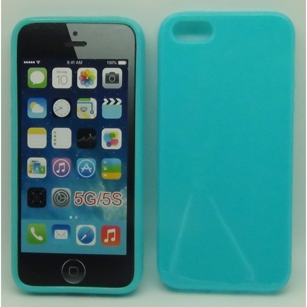 Accessori - Cover iPhone 5 e 5S Celeste